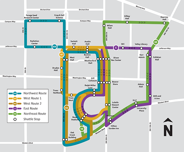Beaver Bus Route Map