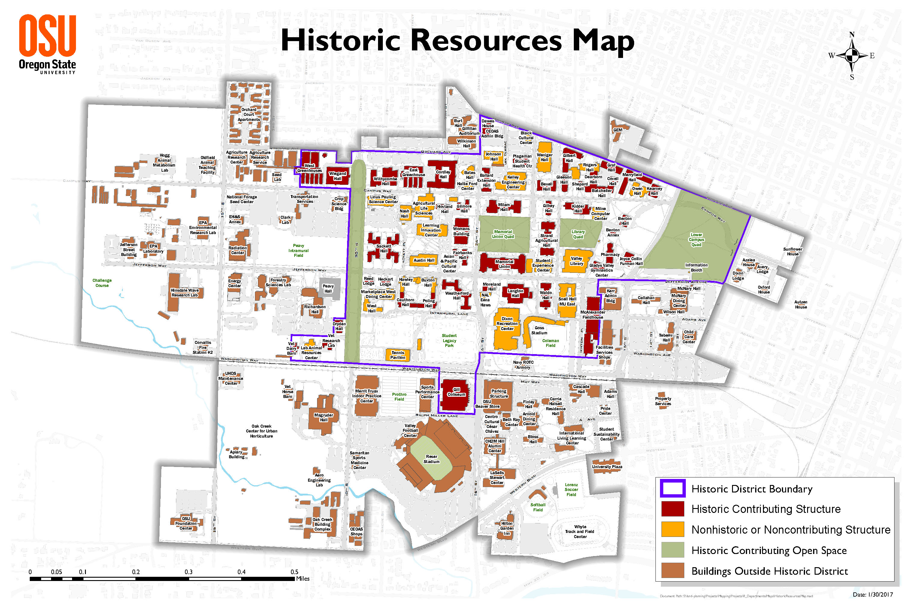OSU National Historic District Map Finance and Administration