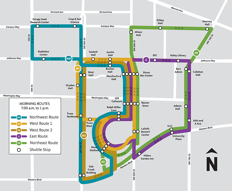 Bus Routes Map Beaver Bus Route Map | Finance and Administration | Oregon State