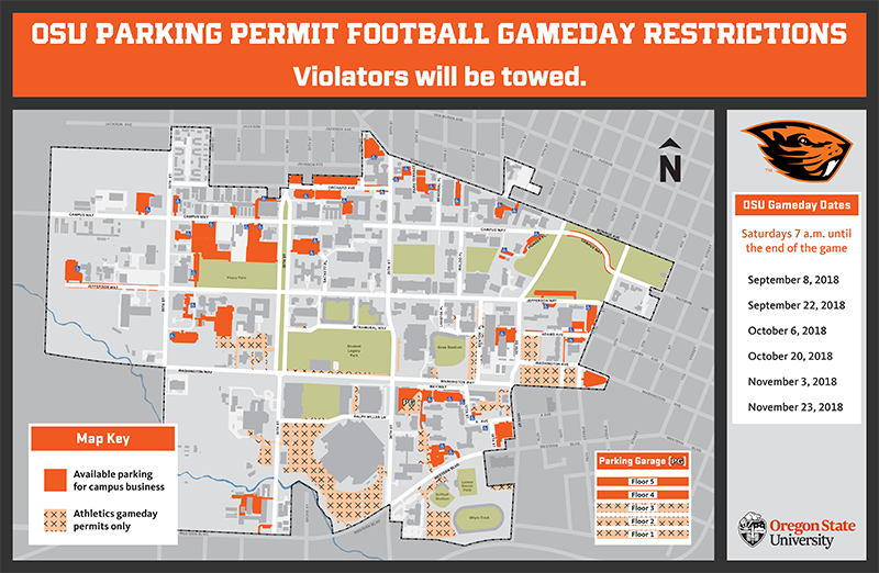 Osu Parking Map Maps | Finance and Administration | Oregon State University