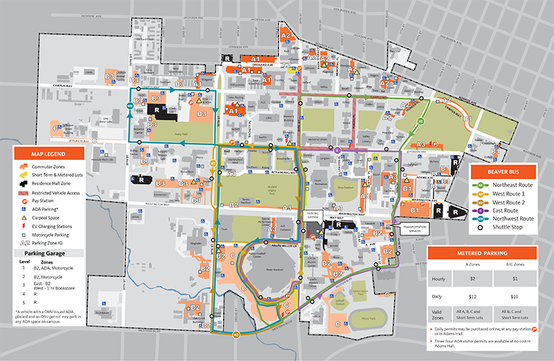 Maps | Finance and Administration | Oregon State University