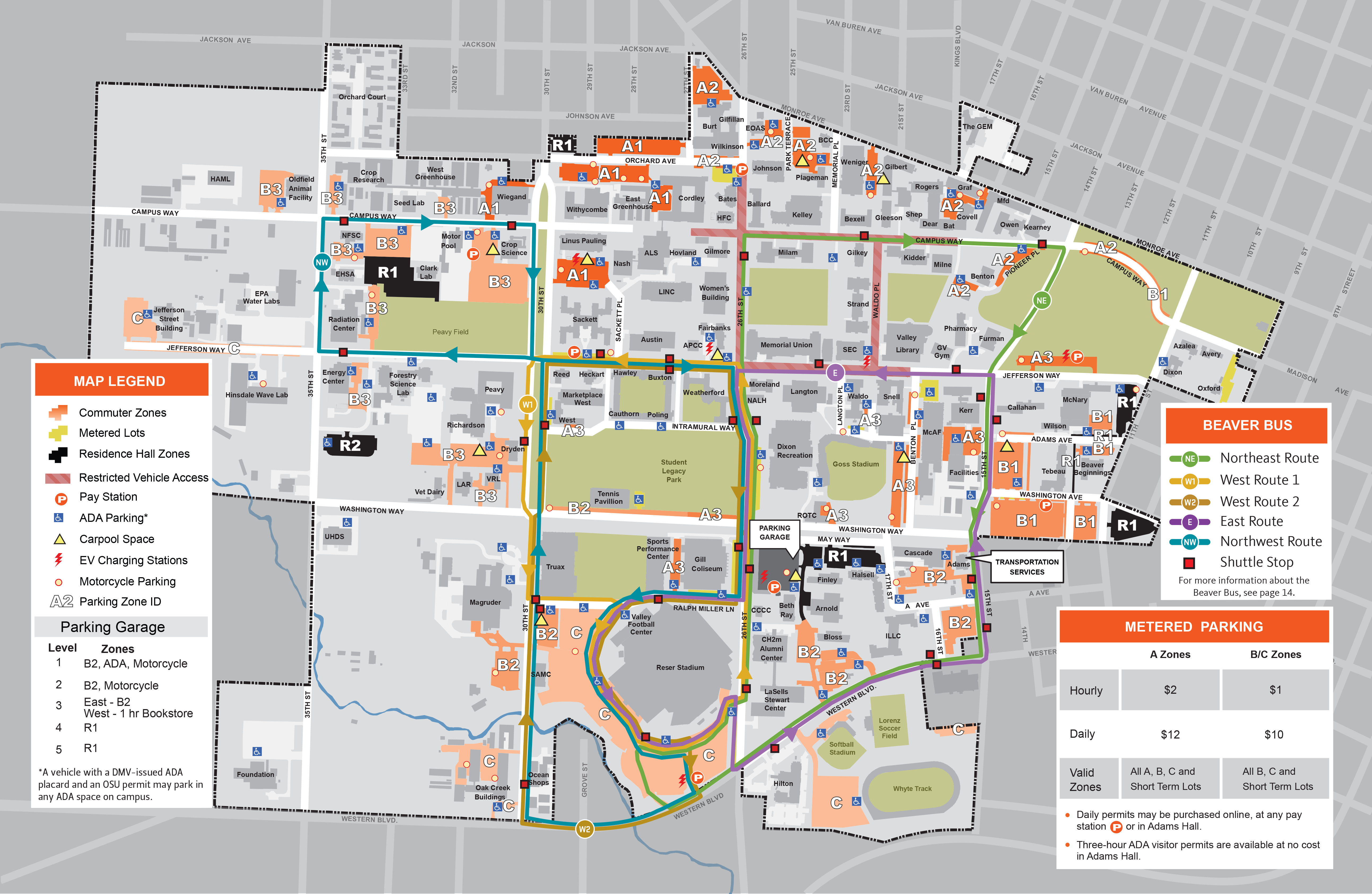 Oregon State University Campus Map Maps | Finance and Administration | Oregon State University