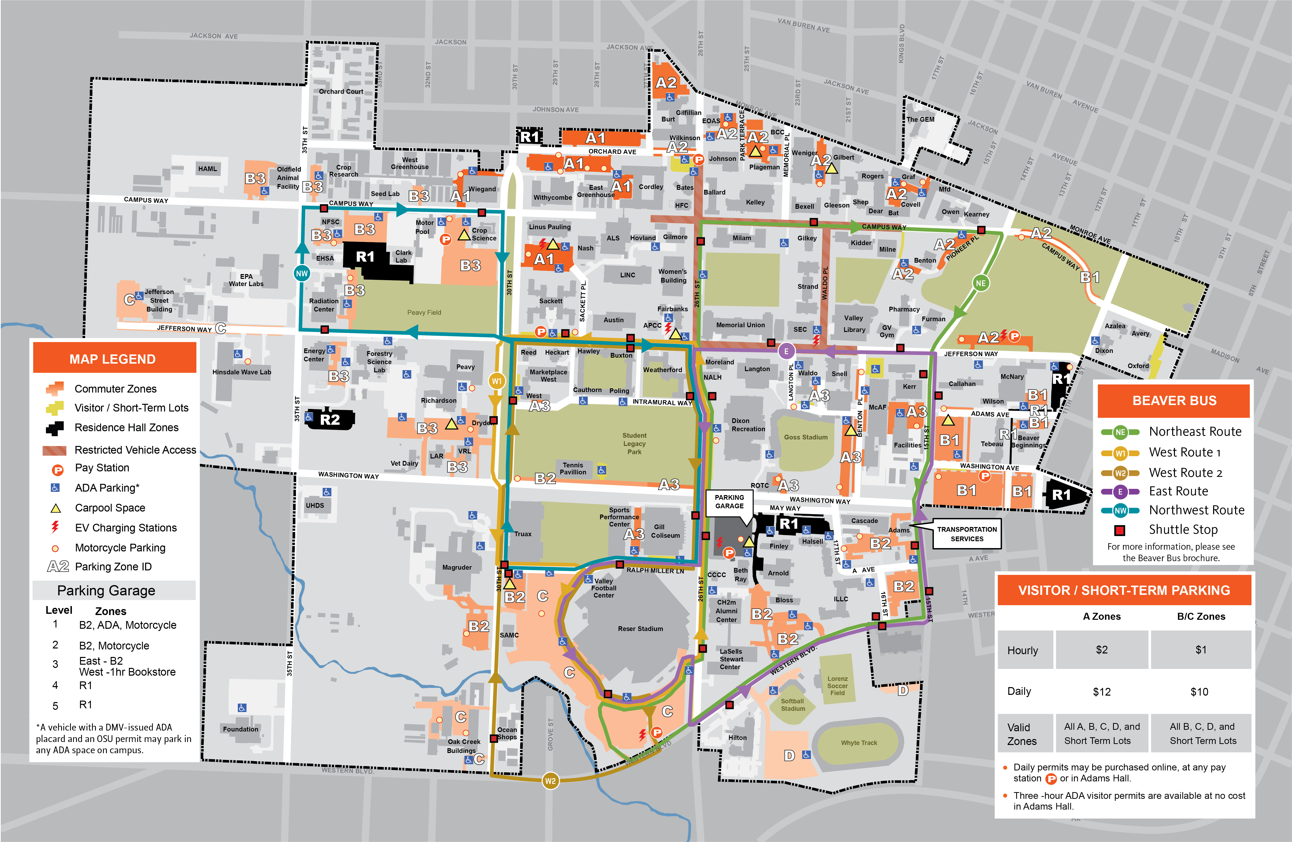 2017-18 OSU Parking Map