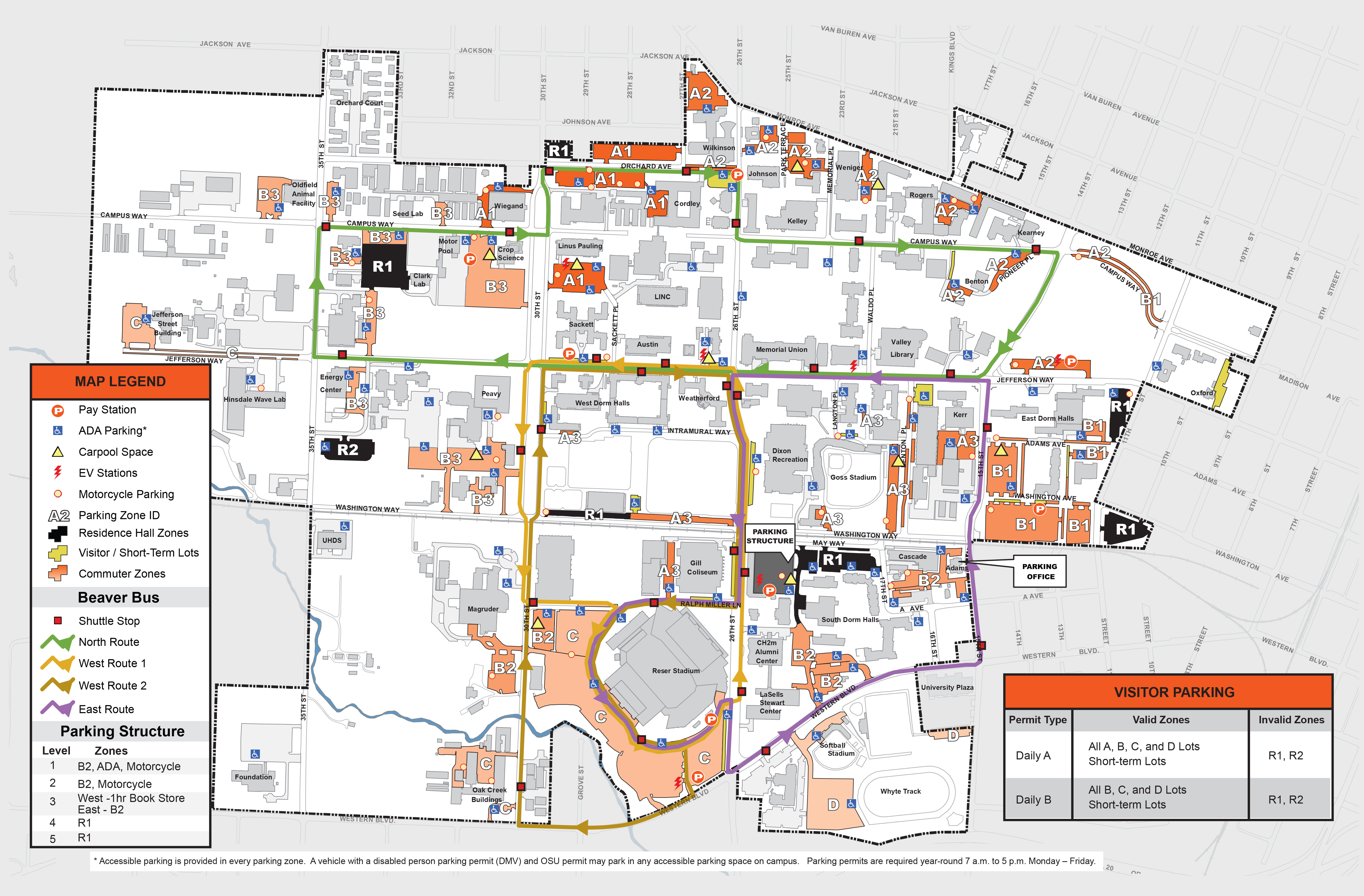 2016-17 Parking Shuttle Map