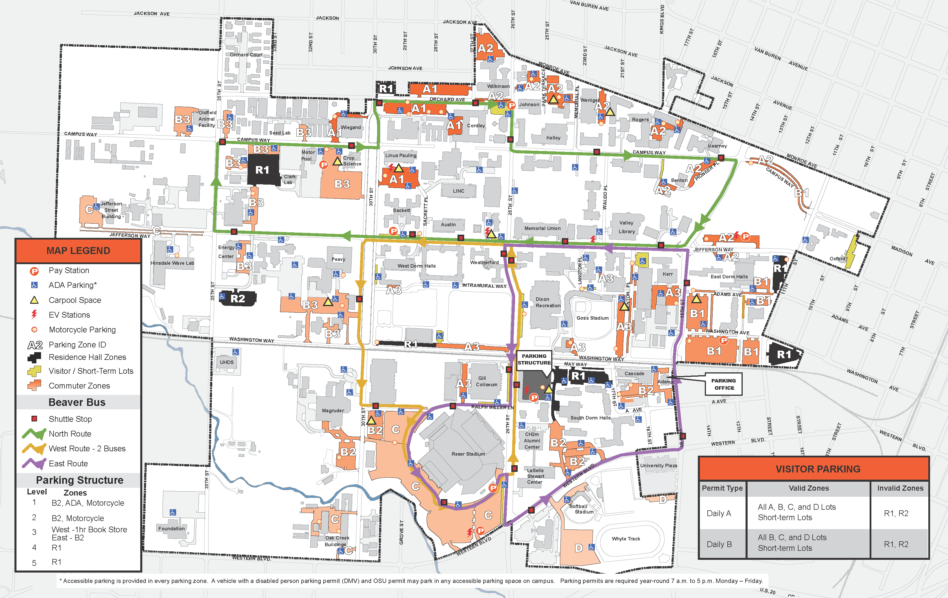 2016 Parking and Shuttle Map