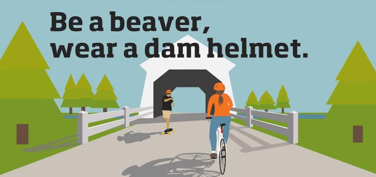 Be a Beaver, Wear a Dam Helmet