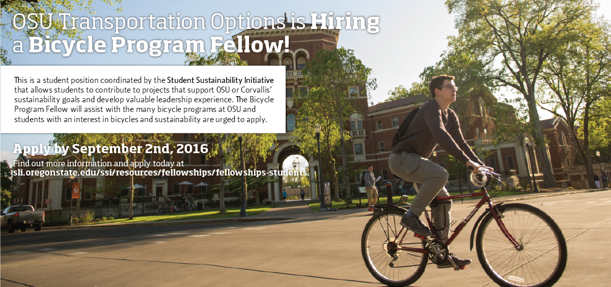 OSU Transportation Options is Hiring a Bicycle Program Fellow!