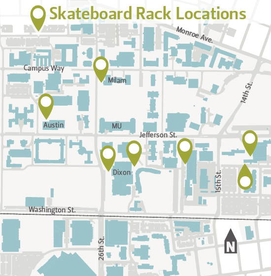 Skateboard Rack Locations
