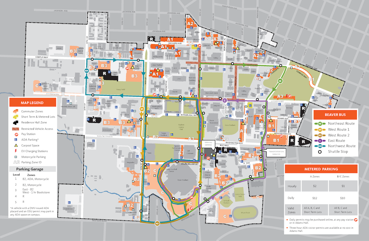 oregon state university campus map pdf Maps Transportation Services Oregon State University oregon state university campus map pdf
