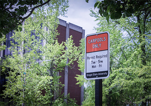 Carpool options at Oregon State University
