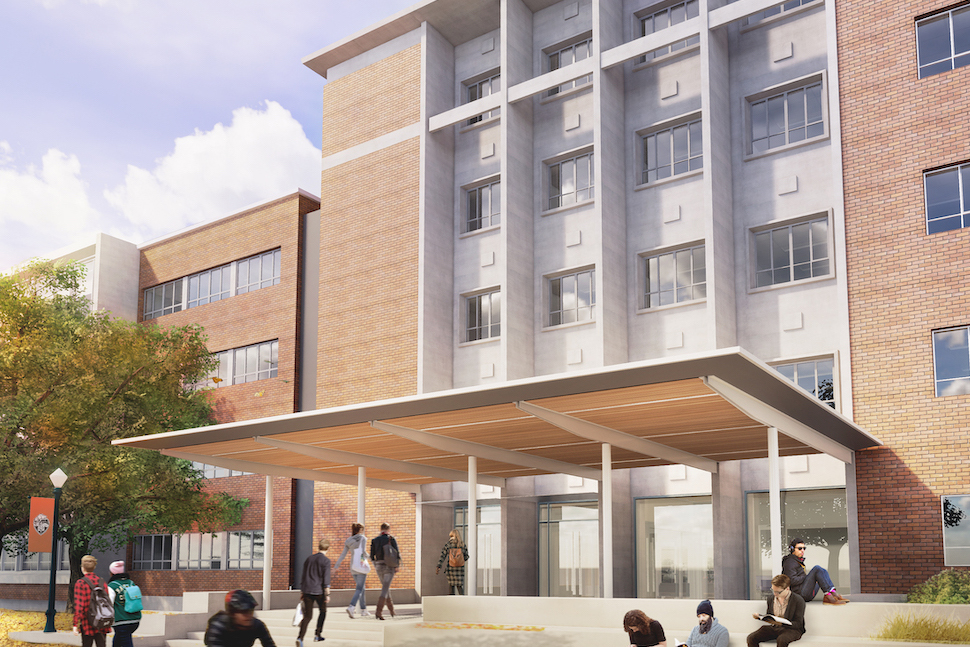 Cordley Hall Renovation rendering
