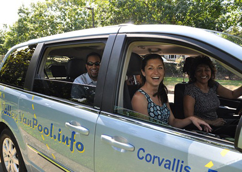 Vanpool options on Oregon State's campus